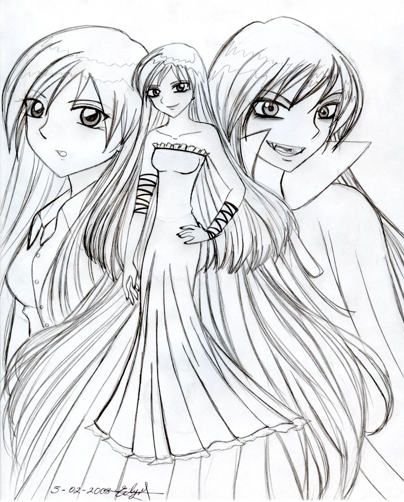 the gallery for anime coloring pages vampires