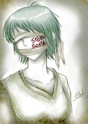 STOP SOPA by Eilyn-Chan