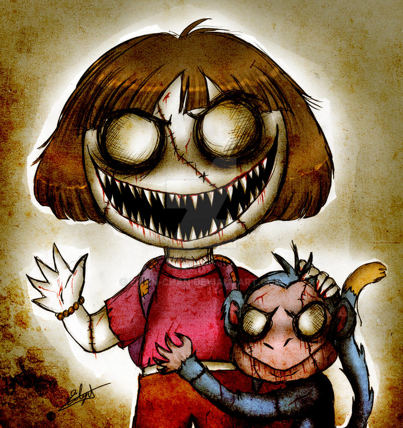 Dora The Explorer And Boots Zombie Version By Eilyn Chan On Deviantart