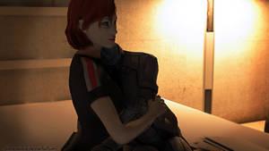 Femshep X Liara: Hold me close.
