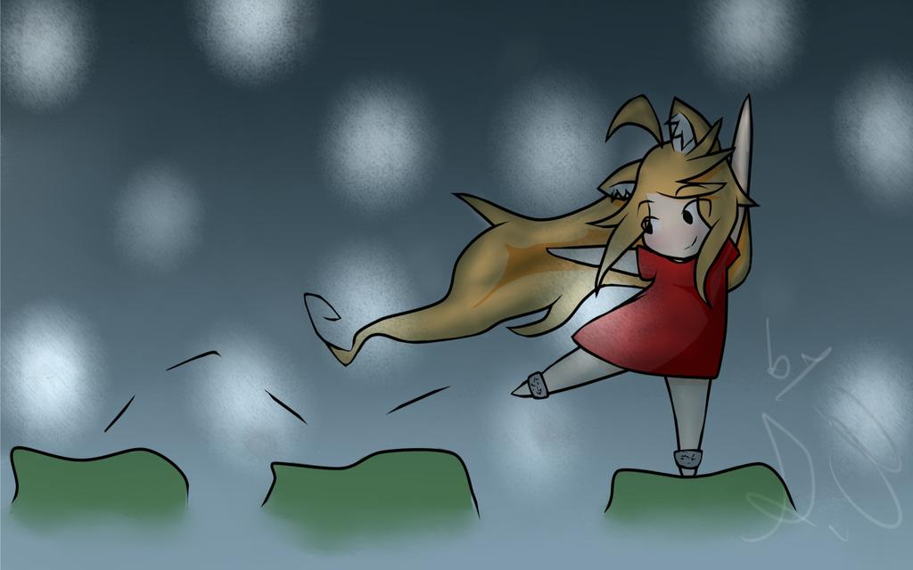 Jumping by Akask1-chibi