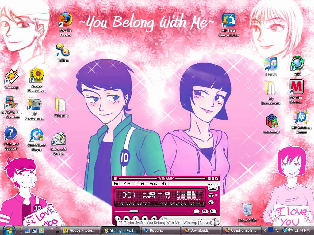 PINKLOVE BenxJulie desktop by Miniyuna