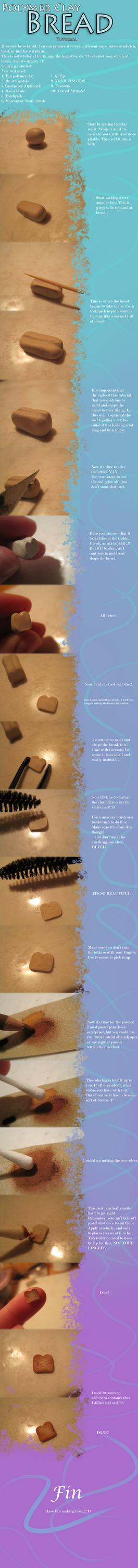 Polymer Clay Tutorial - Bread by MisttheWarrior