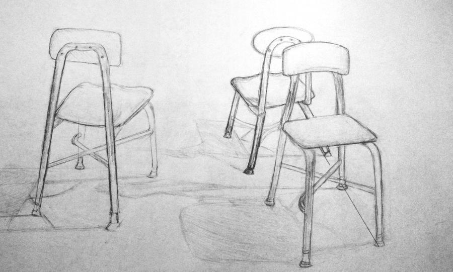how to draw a chair perspective