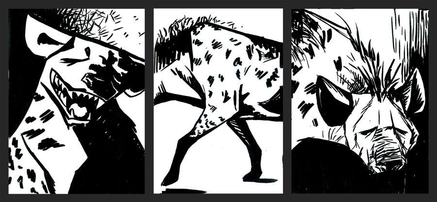 3 Hyenas by AmandaMyers