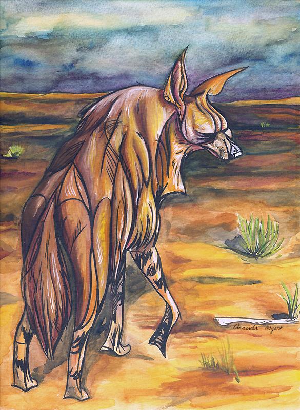 CritterJam: Brown Hyena by AmandaMyers