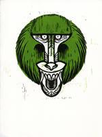 Snarly Animal Head Series: Baboon by AmandaMyers