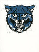 Snarly Animal Head Series: Wolf by AmandaMyers
