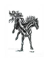 Black Horse by AmandaMyers