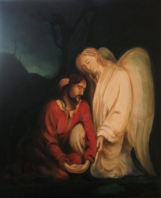 Biblia, Jezus w ogrodzie oliwnym by nony44
