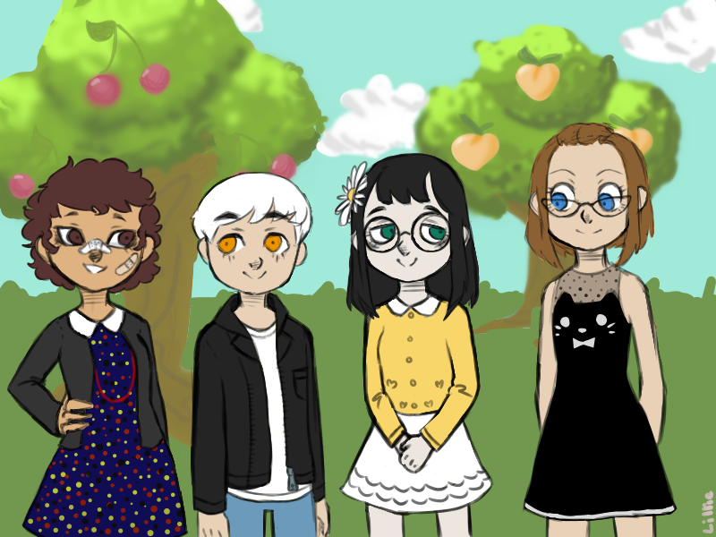 ACNL: Me and my friend's human characters by kamugimugi