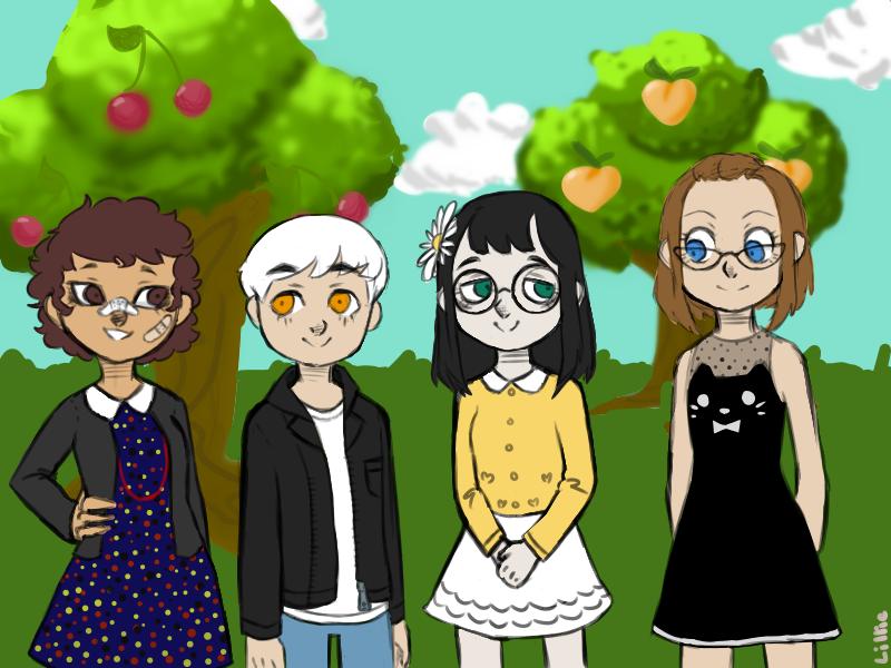 ACNL: Me and my friend's human characters by kamugimugi