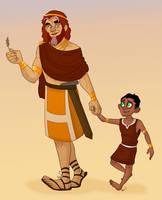 Human Contest: Mohatu and Taka by Bubba-Buu