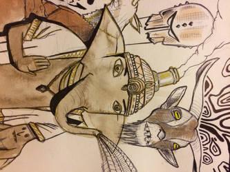 Surreal sketch detail 2 by OwenRileyArt