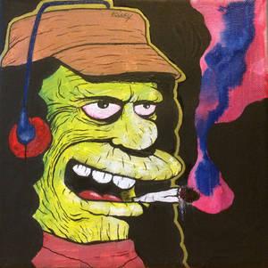 Otto man smoking (simpsons)