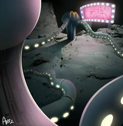 Inhabited comete concept