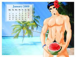 Pipo's Calendar 2009 January by Luisazo