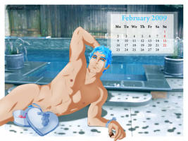 Pipo's Calendar 2009 February by Luisazo