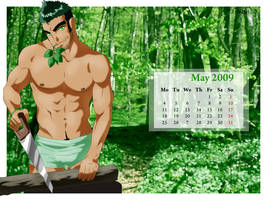 Pipo's Calendar 2009 May by Luisazo
