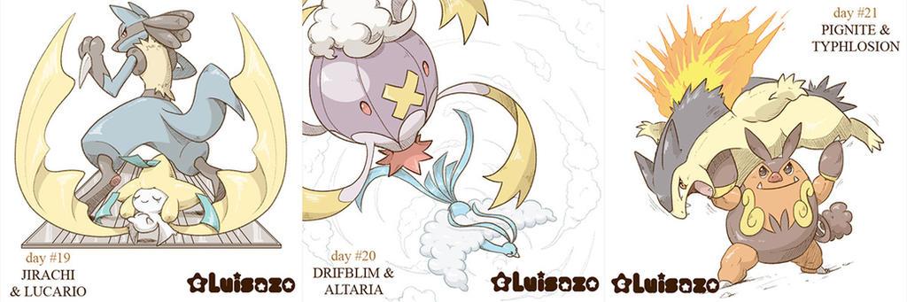 Pokemon Challenge Days 19 - 20 - 21 by Luisazo