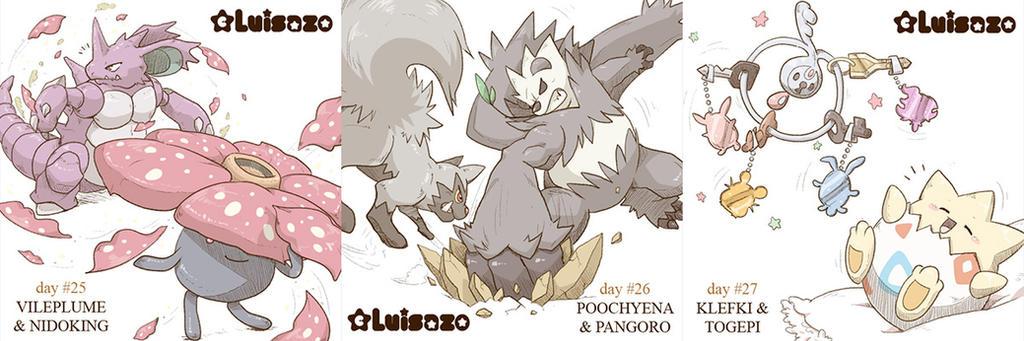 Pokemon Challenge Days 25 - 26 - 27 by Luisazo