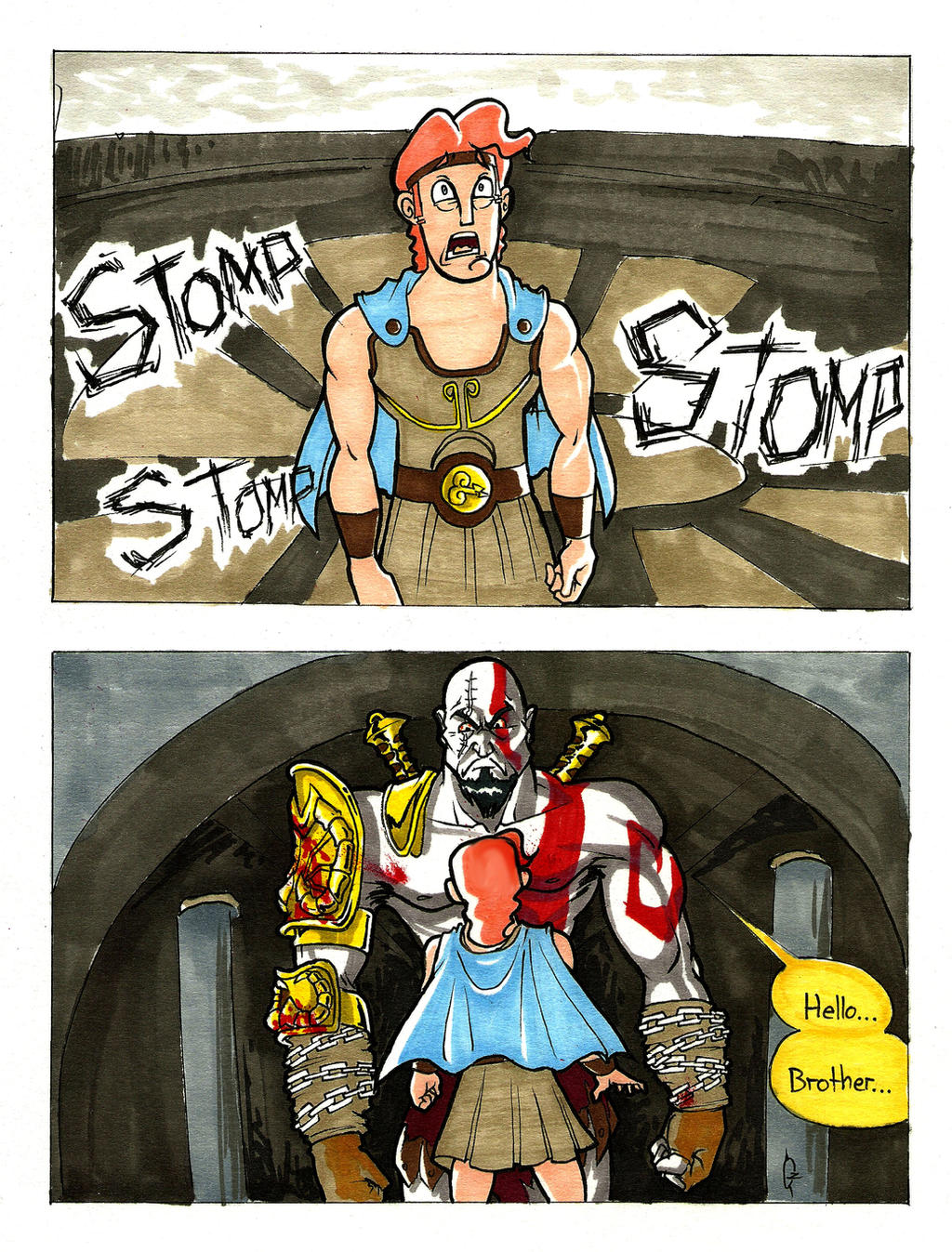 disney hercules vs kratos -#main