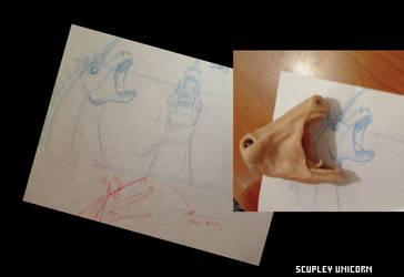 Sculpey Unicorn WIP by Zwickel