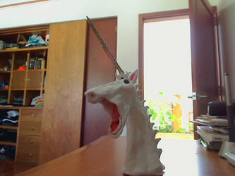 Unicorn Sculpture by Zwickel