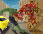 Hulk v Hulk Buster Final by horse1313
