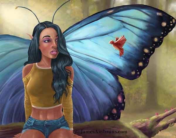 Butterfly lady by horse1313
