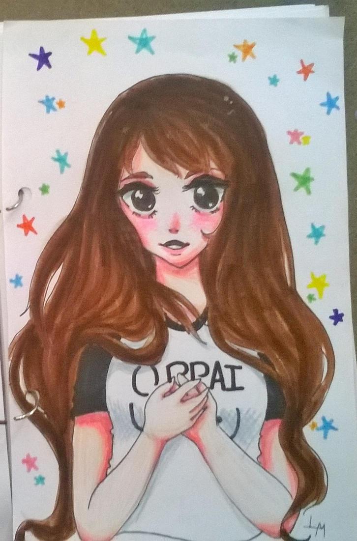 Cute fangirl by Virusdrawss