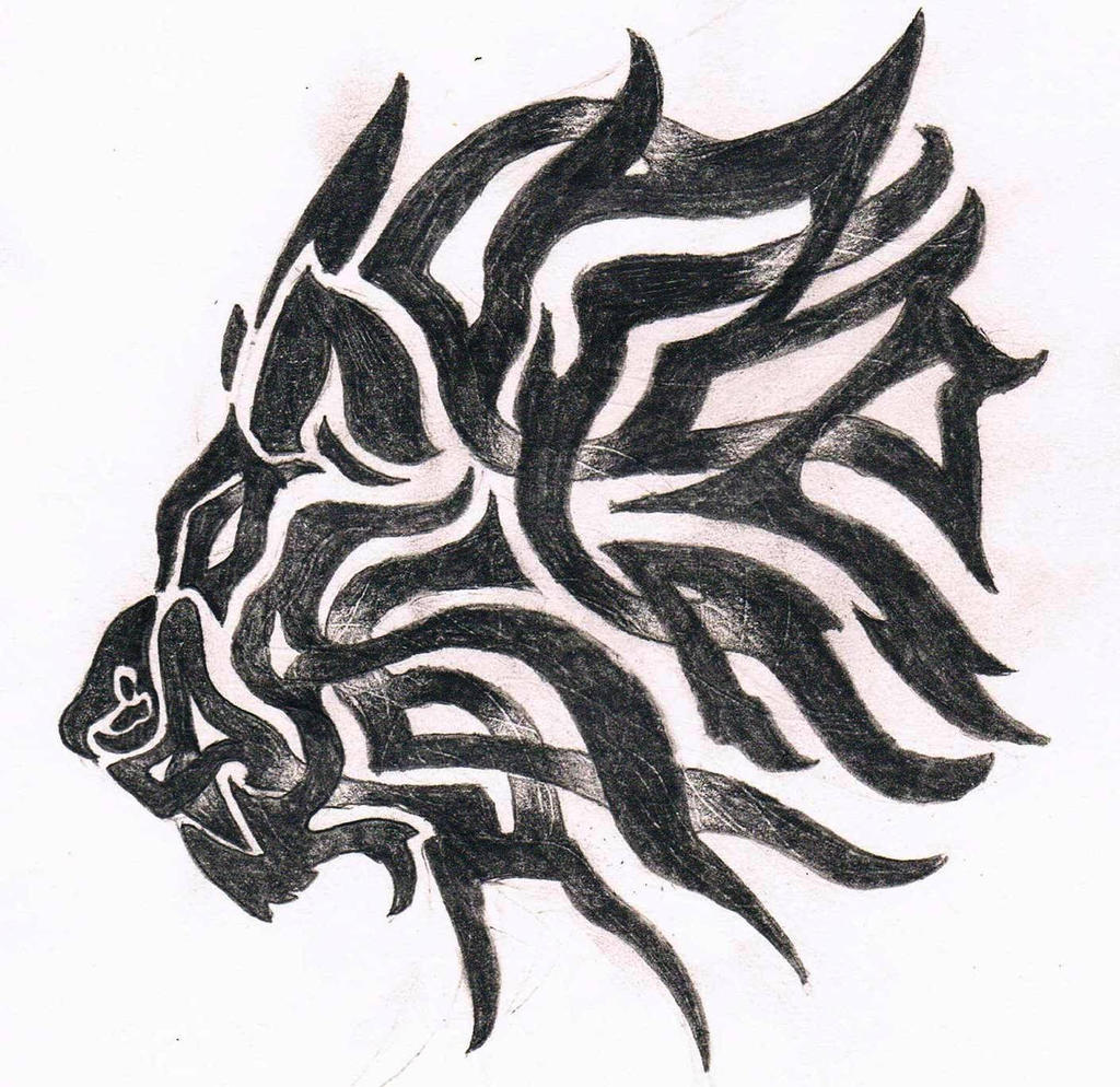 Lion Celtic And Tribal by elric-sheriden on DeviantArt