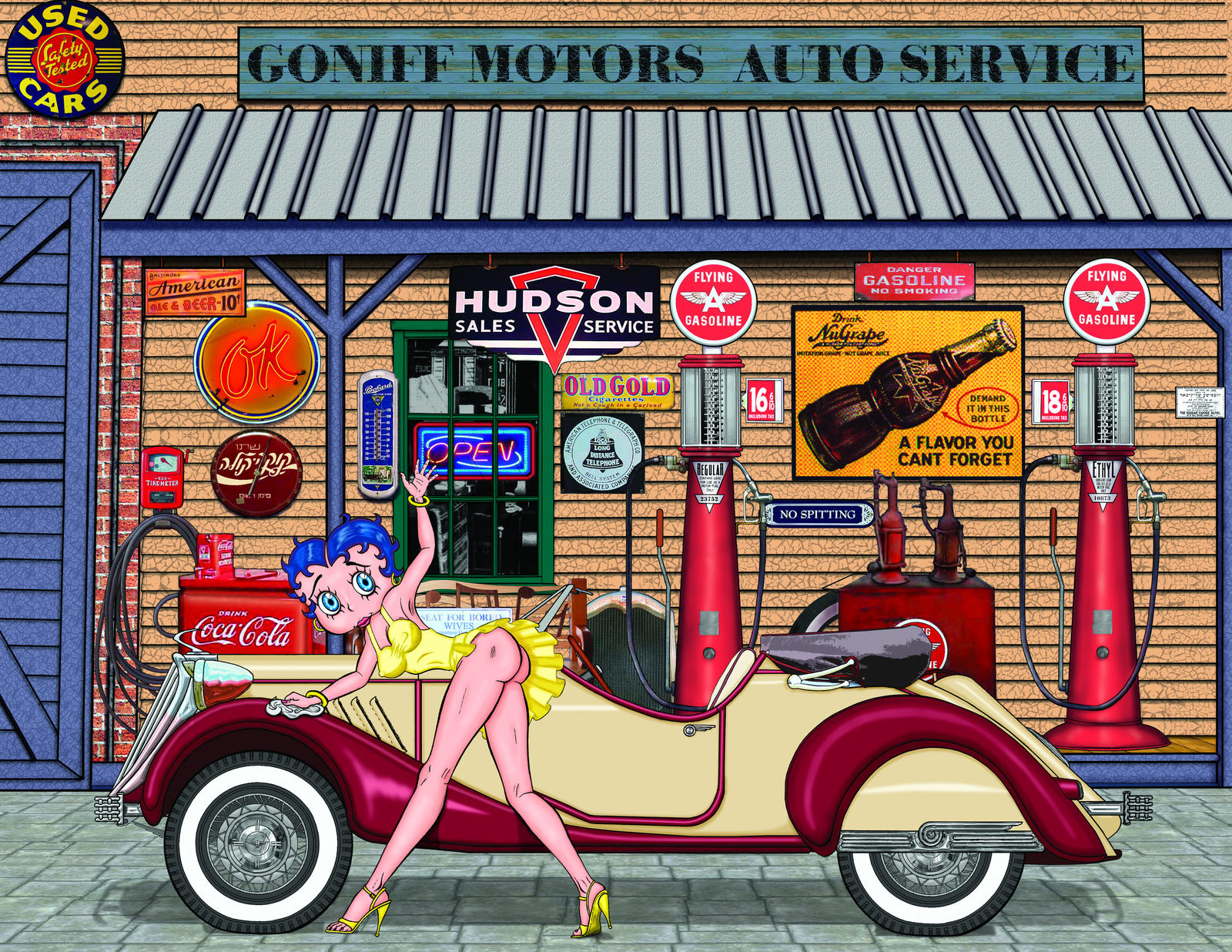 Betty Boop Gas Station By Zagzagel On Deviantart