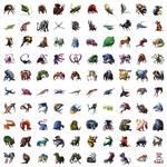 100 creatures