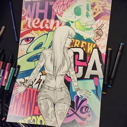 Graffiti Girl 2. by Fezat1