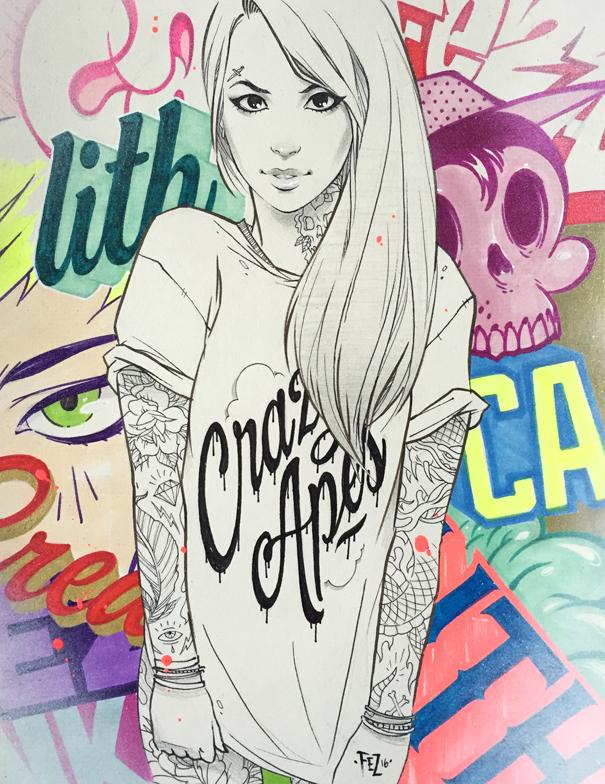 Graffiti Girl 3. by Fezat1