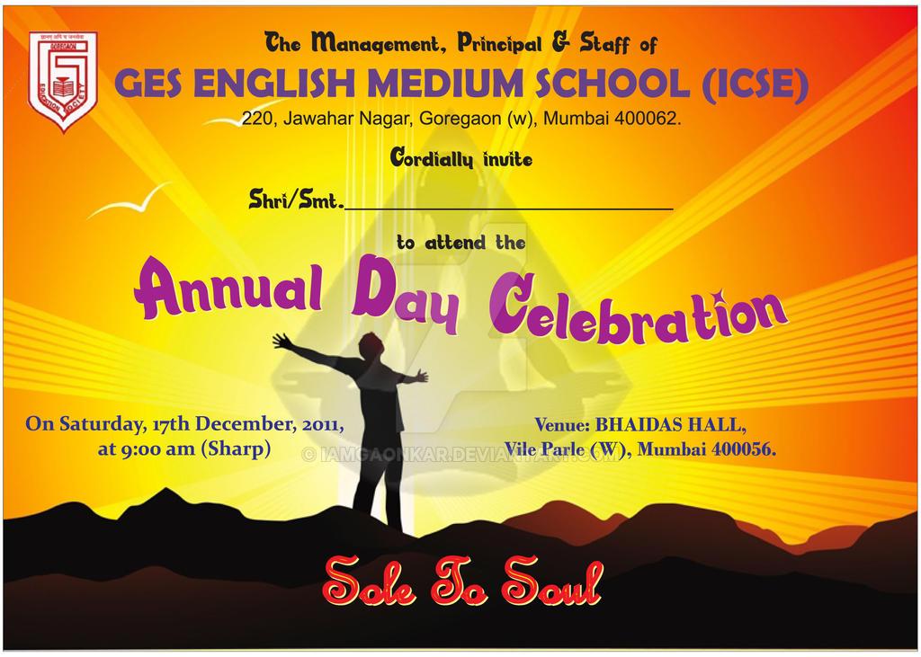Annual Day Invitation Card by iamgaonkar on DeviantArt