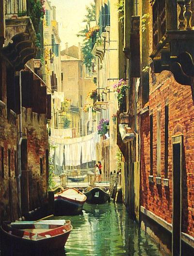 Venice. Boats by AmsterdamArtGallery