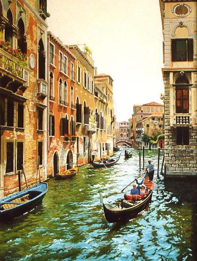 Gondola I by AmsterdamArtGallery