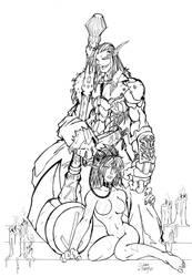 line art request for faerymagi by GravedFish