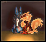 Lucario and Hawkie