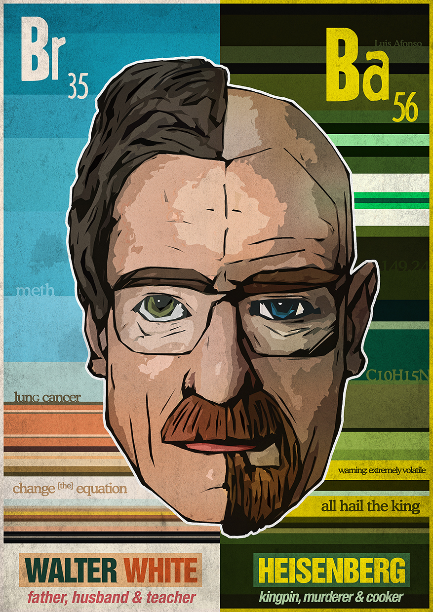 Breaking Bad - Walter Heisenberg White by Shadowtuga