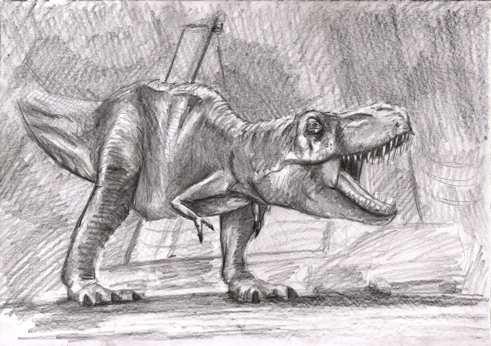 T-Rex from Jurassic Park by Spartan-Ghost on DeviantArt