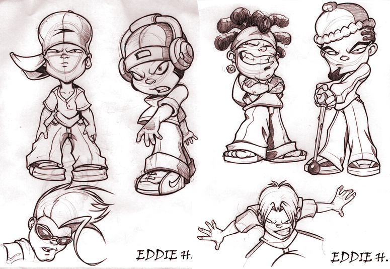 Character Design Nyc : Little dudes by eddieholly on deviantart