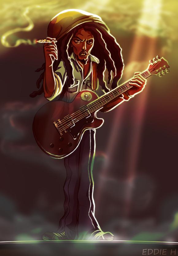 Bob Marley by EddieHolly