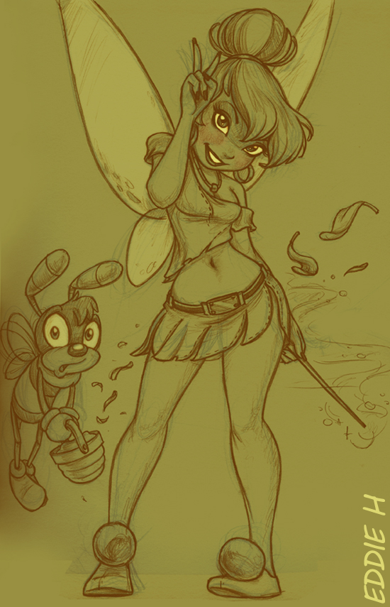 TinkerBell and Bee by EddieHolly