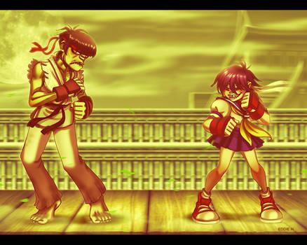 Street Fighter Gorillaz Style