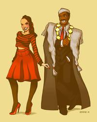 Lisa and Prince Akeem by EddieHolly