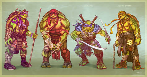 The New Ninja Turtles - TMNT by EddieHolly
