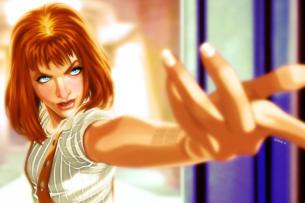 Leeloo Dallas - The Fifth Element by EddieHolly on DeviantArt: http://eddieholly.deviantart.com/art/Leeloo-Dallas-The-Fifth-Element-529685728